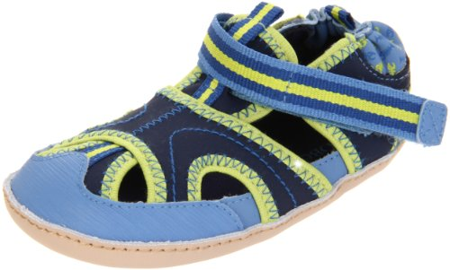 Robeez Mini Shoez Wave Crasher Pre-Walker (Infant/Toddler),Blue/Navy,3-6 Months (2 M US Infant) (Walker Wave)
