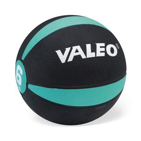 """Valeo 6 Lb. Medicine Ball, Green, 8-1/2"""" Diameter"""