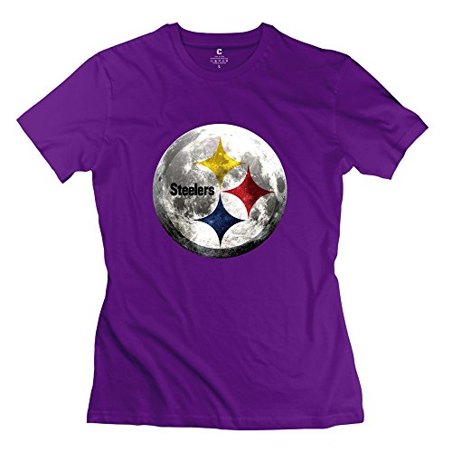 Customized Women's Tees Crazy NFL Steelers Size L Purple