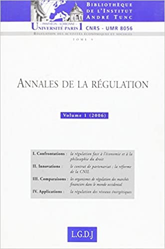 Book Annales de la régulation : Tome 1, (2006) (French edition)
