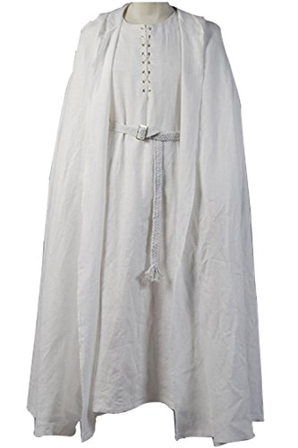Gandalf The White Costume (Cosdaddy® the Lord of the Rings Gandalf White Robe Cape Cosplay Costume (Custom made))