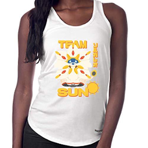 Pokémon Sun Solgaleo Fanart T-Shirt - Pokémon Women's Tank top (Small, White)