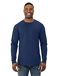 Fruit Of The Loom Mens Sofspun Long Sleeve T-Shirt, JZSFLR, 3XL, J Navy