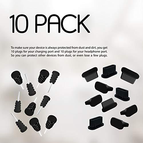 10x Anti Dust Plugs For Smartphone MacBook Laptop USB-C Dust Silicone Dust Plug