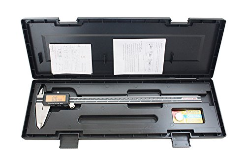 AccusizeTools - 12'' Full Screen Yellow LCD Electronic Digital Caliper, Metric/Inch/Fractional, Professional Quality, 1/128'', 1110-1838 by Accusize Industrial Tools (Image #6)