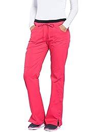 Women's Work-wear Core Stretch Junior Fit Low-Rise Cargo Scrub Pant