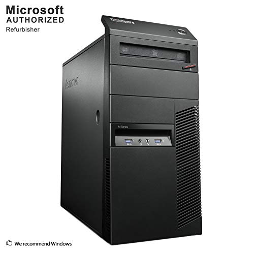 Lenovo ThinkCentre M83 Tower Desktop PC, Intel Quad Core i5-4570 up to 3.6GHz, 16G DDR3, 1T, WiFi, BT 4.0, DVD, Windows…