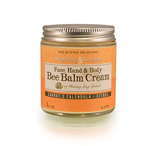 Bee Balm Cream Nouri Carrot and Calendula, Citrus, 4 oz