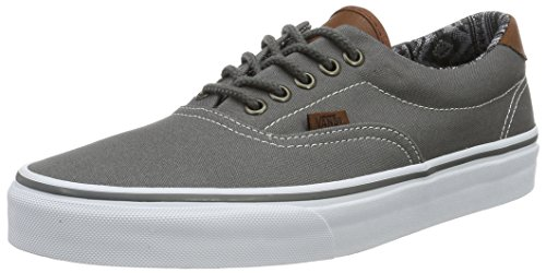 Vans Unisex-Adult Era 59 Shoes, Size: 7 D(M) US Mens/8.5 B(M) US Womens, Color (C&L) Pewter/Italian Weave -