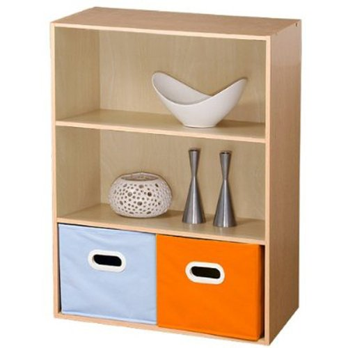 Furinno 11208SBE Pasir 3 Tier Open Shelf, Steam Beech