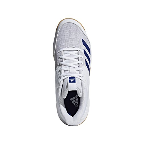 Image of adidas Men's Ligra 6 Volleyball Shoe, White/Mystery Ink/Grey, 13.5 M US