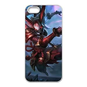 iPhone 4 4s Cell Phone Case White League of Legends Blood Moon Kalista QH1801757