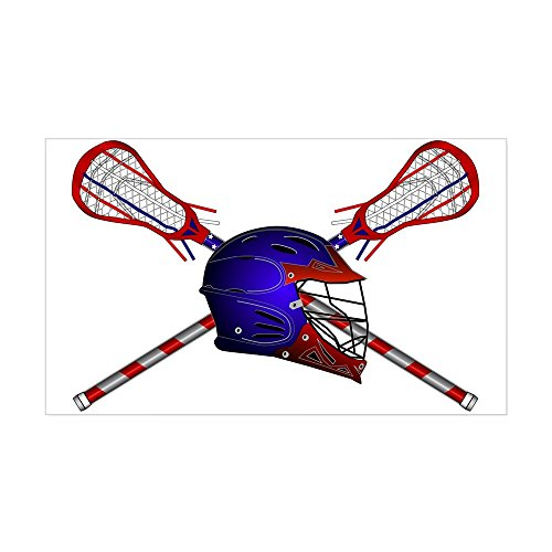 Helmet With Sticks Sticker (Rectangle) - Rectangle Bumper Sticker Car Decal (Helmet Stick)