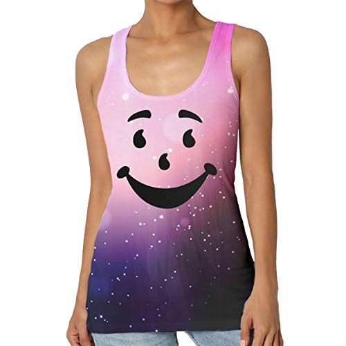 Kool Aid Man Name (Women's Casual Vest Kool-Aid Man T Shirt Sleeveless for Tank)