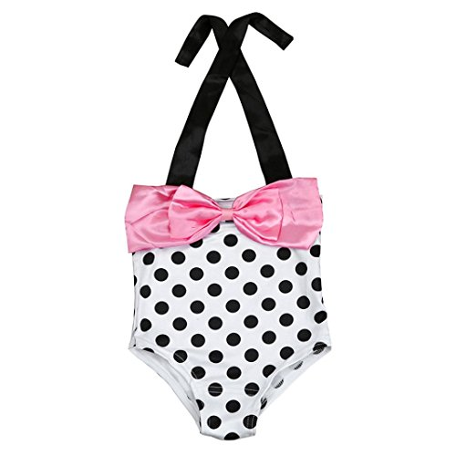 Goodlock Toddler Kids Fashion Swimsuit Baby Girls One Piece Polka Bikini Swimwear Swimsuit Bathing Suit Beachwear (Clearance Girls Swimsuits)