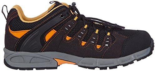 Meindl Respond Junior 680130, Unisex - Kinder Trekking- und Wanderschuhe Schwarz (schwarz/orange 1)