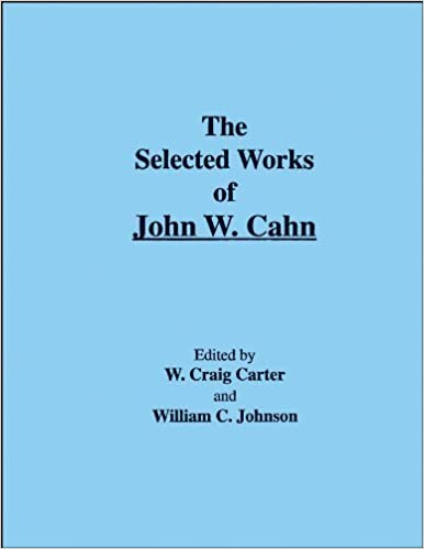 The Selected Works of John W. Cahn (2005-02-01)