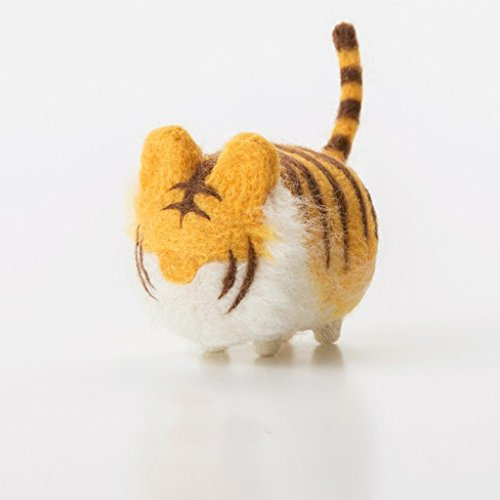 Truslin - DIY Needle Felting Kit with Gift Box DIY Toys Faceless Animal - Tiger