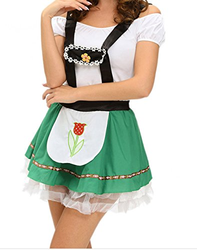 [Christmas DH-MS Dress Sexy Hoffbrau Lady Oktoberfest Costume(Size,L)] (Abba Jumpsuit Costume)