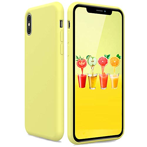 Silicone Case for iPhone Xs iPhone X, Candy Color Soft Silicone Slim Rubber Protective Phone Case Cover Compatible with iPhone X iPhone Xs 5.8