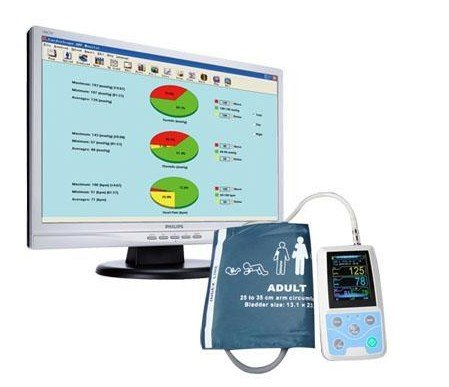 Ambulatory Cycling Heart Rate Monitors ABPM CONTEC Abpm50 Ambulatory Blood Pressure Monitor with Cd Software + Data Redord + for Continuous Monitoring+USB Port +Extend 3 PCS Cuffs