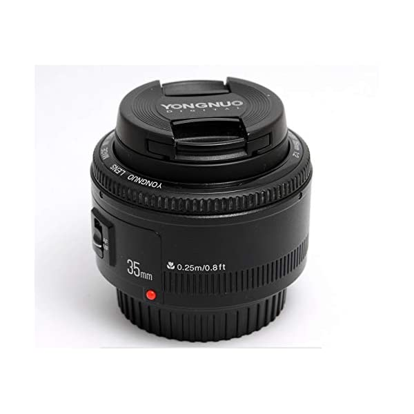 RetinaPix Yongnuo YN35mm F2 Lens 1:2 AF/MF Wide-Angle Fixed/Prime Auto Focus Lens for Canon EF Mount EOS Camera