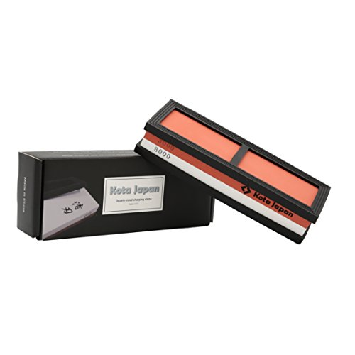 Kota Japan # 3000-8000 Grit Premium Whetstone. Knife Sharpening Stone VALUE BUNDLE Kit. ENJOYABLE, Smooth, EFFORTLESS. NO-SLIP Base, Utmost SAFETY, Superior QUALITY,, Perfect (Hot Rod Pin)