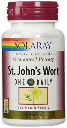 Solaray One Daily St. John's Wort Supplement, 900 mg, 30 Count