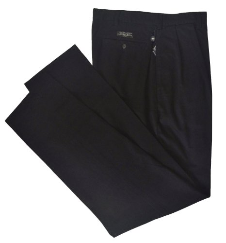 - Polo Ralph Lauren Men's Big & Tall Pleated Andrew Chino Pant-Black-36T X 36