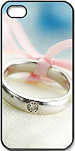 iPhone 5/5s Case Wedding-Ring-Close-Up Case for iPhone 5/5s with Black Side
