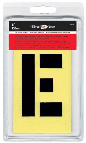 Hillman 839728 6-Inch Numbers, Letters, and Punctuation Combo Stencil Set The Hillman Group