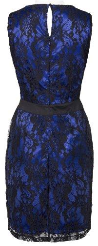 mymust–Elegante Vestido de encaje–Negro con Azul enagua