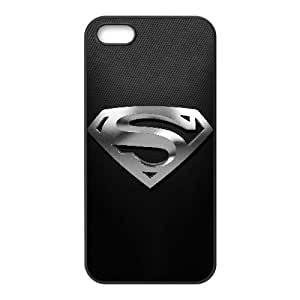 Funda iPhone 4 4s caso funda de teléfono celular Negro Oro Superman Logo F2T5IQ