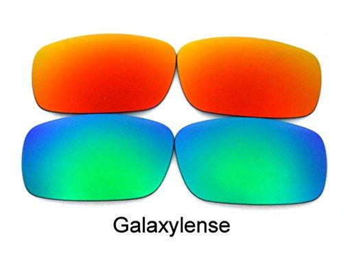 Galaxy Replacement Lenses For Oakley Crankshaft Green&Red Polarized - Crankshaft Polarized