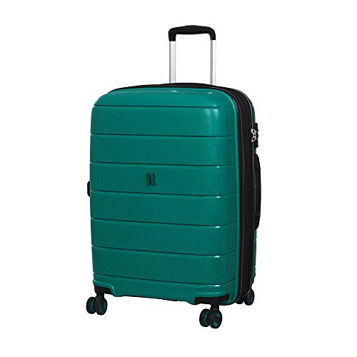 """Price comparison product image IT Luggage 25.8"""" Asteroid 8-Wheel Hardside Expandable Spinner,  Pine Green"""
