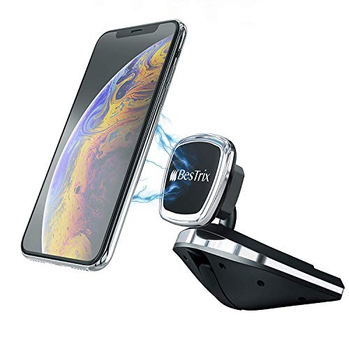 Bestrix Universal CD Slot Magnetic Phone Holder for Car Compatible with All Smartphone up to - Iphone Car Adapter 5c Radio