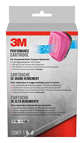 3M Replacement Cartridges, Household Multi-Purpose Respirator