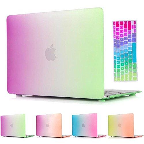 MacBook Pro Regular 13-inch Case,Soundmae 2in1 Matte Rubb...