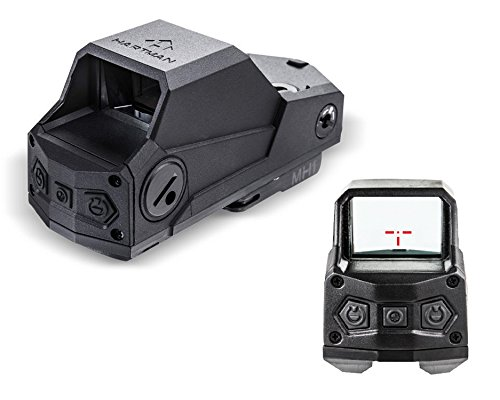 CAA Hartman Reflex Sight Dot W 2 Horizontal & 1 Vertical Stadia Single Mount, Black