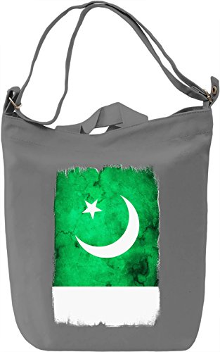 Pakistan Flag Borsa Giornaliera Canvas Canvas Day Bag| 100% Premium Cotton Canvas| DTG Printing|