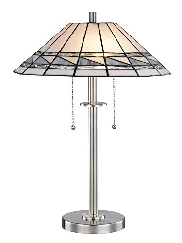 Dale Tiffany STT17019 Sasha Tiffany Table Lamp Brushed Nickel