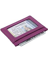 Handmade Genuine Leather Unisex Slim Super Thin Card Holder With ID Card Window