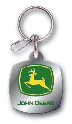 John Deere Logo Enamel Key Chain
