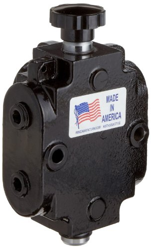 Prince DS-1A1D Directional Control Valve, Monoblock, Cast Iron, 1 Spool, 6 Ways, 2 Positions, Knob Handle, 2500 psi, 40 gpm, 1/2'' NPT Female by Prince Manufacturing (Image #3)
