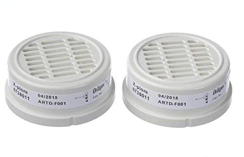 Drä ger X-plore P3 R –  Filtro de partí culas para semimascarilla 3300 y 3500 o mascarilla 5500 ( Dräger Safety 6738011