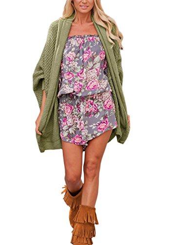 Donna Cardigan In Maglia Elegante Kimono Trench Maglione Lunghi Puro Colore Manica Lunga Cappotto Festa Style Allentato Giacca Casuale Buona Qualit