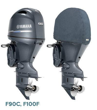 Oceansouth Outboard Motor Half Cover for Yamaha (F75D F90C F100F 4 CYL - Engine 4 Motor Cyl