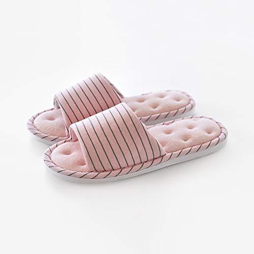 Fit Doux dérapant Pink Pantoufle Domicile De Femelle Plancher Tissu Bois Td Perméabilité Coton Bonne Anti Et Hiver Printemps À L'air Pieds Automne En Intérieur Ouverture FWdWfqSwHU