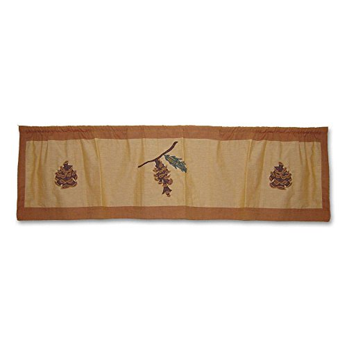 Patch Pinecone - Patch Magic Pinecone Curtain Valance, 54-Inch by 16-Inch
