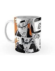 *Caneca Naruto Manga 325 Ml Interior E Alça Branca*